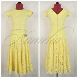 Платье Rt гипюр бледно желтый р34