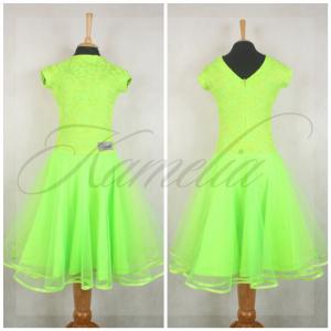 Платье Rt гипюр салатовый + фатин р36