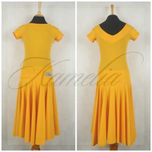 Платье Rt бифлекс матовый желтый р36
