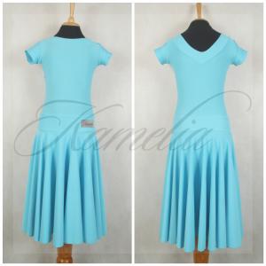 Платье Rt бифлекс матовый бледно-голубой р36