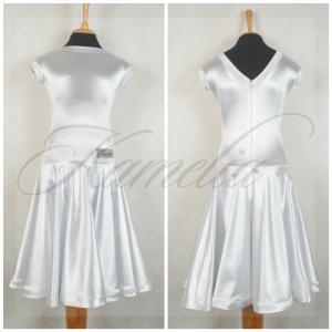 Платье Rt сатин-вельвет белый р36
