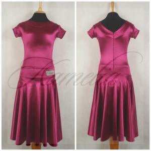 Платье Rt сатин-вельвет фуксия р36