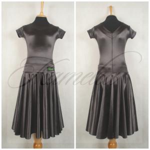 Платье Rt сатин-вельвет гематит №6 р36