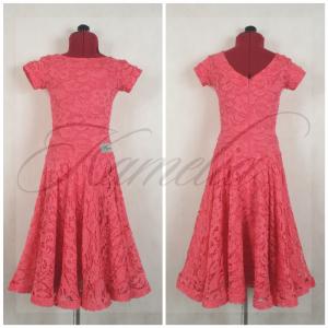 Платье Rt гипюр темно-розовый р36