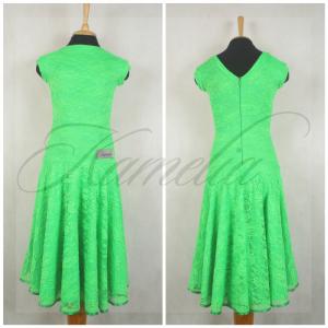 Платье Rt гипюр стрейч зеленый р36