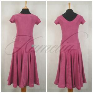 Платье Rt жатый данс-креп темно-розовый р36