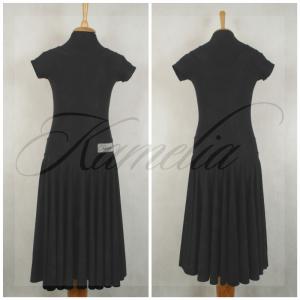Платье Rt жатый данс-креп черный р36