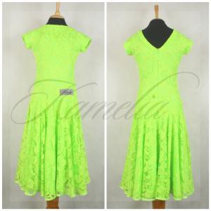 Платье Rt гипюр салатовый р36