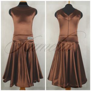 Платье Rt сатин-вельвет шоколад №7 р38