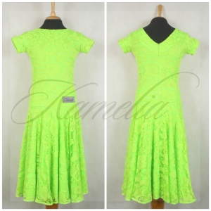 Платье Rt гипюр салатовый р38