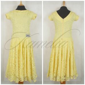 Платье Rt гипюр бледно-желтый р38