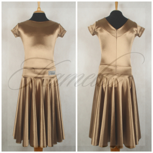 Платье Rt сатин-вельвет золото №8 р38