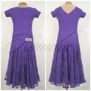 Платье Rt гипюр стрейч фиолетовый р38