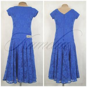 Платье Rt гипюр стрейч синий р38