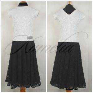Платье Rt гипюр стрейч черно-белый р38