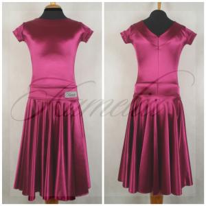 Платье Rt сатин-вельвет фуксия №11 р38