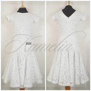 Платье Rt гипюр стрейч белый р38