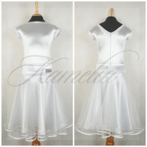 Платье Rt сатин-вельвет белый + фатин р38