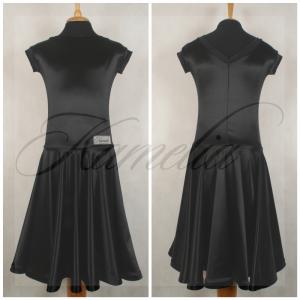 Платье Rt сатин-вельвет черный №2 р38