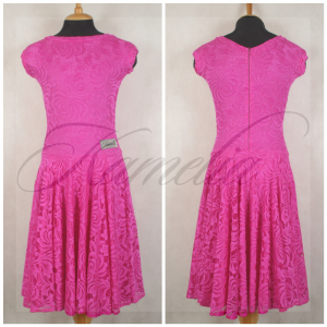 Juvenile dress Fuchsia stretch lace size XL (USA 15)