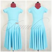 Платье рейтинг матовый бифлекс бледно-голубой р32