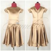 Платье рейтинг сатин-вельвет золото №8 р32