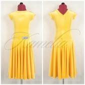 Платье Rt бархат стрейч ярко желтый р34