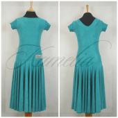 Платье Rt жатый данс-креп изумрудный р36