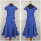 Платье Rt бифлекс синий р36