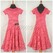 Платье рейтинг гипюр темно розовый р32