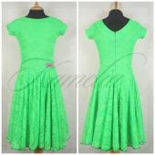 Платье Rt гипюр стрейч зеленый р40