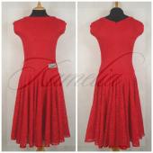 Платье Rt гипюр стрейч красный р40