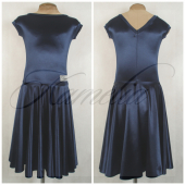 Платье Rt сатин-вельвет темно-синий №17 р40